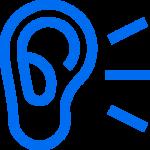 Une oreille qui écoute, Icône réalisée par Freepik sur www.flaticon.com